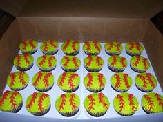 Jordan's Girls Softball Cupcakes - Hershey's Chocolate cake with BC icing.  Luckily my daughters play softball so I knew what color green to make the cupcakes!