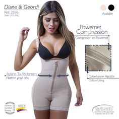 048627cfa2 Details about Faja Colombiana Diane 2396 Powernet Bodyshaper Shaper your  body and reduce