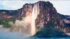 ANGEL FALLS CANAIMA NATIONAL PARK, BOLÍVAR, VENEZUELA Angel Falls is the highest uninterrupted waterfall in the world, plunging 3,212 feet. The water turns into mist by the time it reaches the ground because of the height of the falls. Visit these other great waterfalls of the world:  Victoria Falls, Zambia and Zimbabwe Niagara Falls, U.S.A. and Canada Dettifoss, Iceland Iguazú Falls, Argentina and Brazil