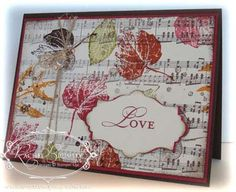 French Foliage in love - Rachel Stamps ....  Card using SU  French Foliage Stamp Set