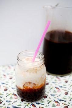 Low Fat Thai Iced Tea ~ Using Coconut Milk, Honey, Sugar and Thai Tea Mix