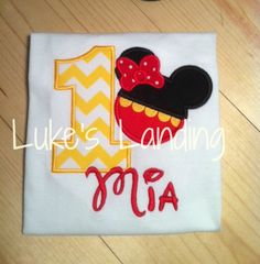 With a matching mickey one for the birthday brother too....!   Personalized Minnie Mouse Birthday Shirt Girls by lukeslanding, $24.00