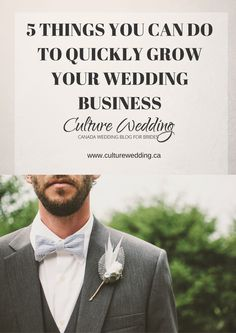 5 Things you can do to quickly grow your wedding Business