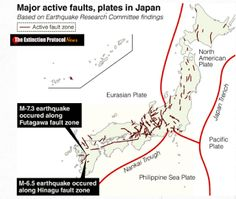 Japan riddled with active faults: a chain of major quakes could strike anywhere