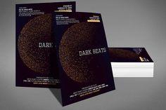 cool Dark Beats Flyer  CreativeWork247 - Fonts, Graphics, Themes, Templates...
