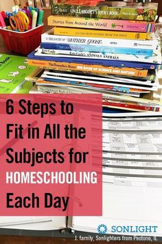 6 Steps to Fit in All the Subjects for Homeschooling Each Day & homeschooling & homeschool scheduling & Six steps that help you fit in all the subjects and finish your homeschool year on time without making the kids hate school. Hate School, School Plan, Homeschool High School, Homeschool Curriculum, Homeschooling Resources, School Resources, Teacher Resources, Online High School, Online College