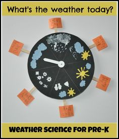 weather for kids, use puffy stickers, textures, add Braille. What's The Weather Today, Weather For Kids, Preschool Weather, Weather Science, Weather Activities, Weather And Climate, Preschool Science, Preschool Kindergarten, Science For Kids