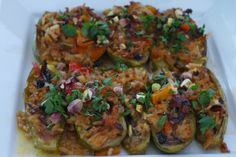 Stuffed Zucchini With Middle Eastern and Sicilian Flavors