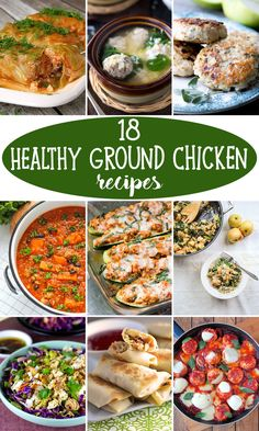 Healthy Recipes Ground Chicken Healthy Family - 18 healthy ground chicken recipes that& make you feel great Healthy Food Blogs, Heart Healthy Recipes, Healthy Chicken Recipes, Healthy Snacks, Healthy Eating, Healthy Dinners, Clean Eating, Chicken Meals, Recipe Chicken