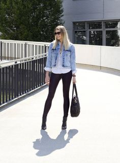 Denim meets Leather! Check out my new post! Streetstyle Fashion Blogger Girl Blog Bloggerin German Blogger Style Stylish Mode Trends