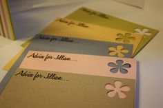 Bridal Shower Advice Cards as a Keepsake for the Bride-To-Be #bridalshower #wedding