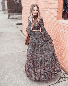 maxi dress Trend Fashion Winter Maxi Dress Because summer is the only season where comfy-cute dressing is a priority, and winter is strictly for bundling up in chunky knits, scarves Muslim Fashion, Modest Fashion, Hijab Fashion, Boho Fashion, Fashion Dresses, Cheap Fashion, Style Fashion, Bollywood Fashion, Affordable Fashion