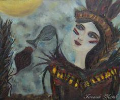 Raízes indígenas - Contemplação da dicotomia existencial - Auto retrato
