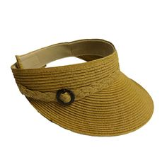 Straw Visor with Buckle Accent