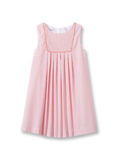 Robe chasuble à plis - Rayures rose - Nos sélections - Obaïbi   Okaïdi Robe  Chasuble 7c899f750783