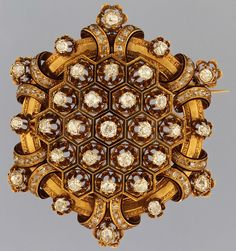 Attributed to Maison Rouvenat of Paris. Brooch, ca. 1867. Gold, enamel, diamonds. The Metropolitan Museum of Art, New York. Bequest of Xenophon Leonidas Mavroidi, 1946 (47.99).