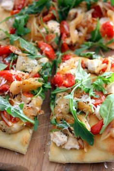 Chicken, Arugula And Parmesan Pizza, On Sun Dried Tomato Pesto Recipes ...