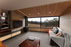 Solar-powered Valley House blends industrial chic with rural Tasmanian elements