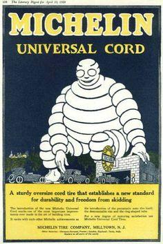 * publicité Michelin - Arthur Norman Edrop (1884-1973) 1920