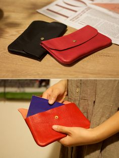 leather flap pouch | Duram Factory