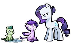 Spikes And Rarity Kids, Mlp Rarity And Spikes Kids, Mlp Spikes, Broni My Little Pony List, My Little Pony Comic, My Lil Pony, My Little Pony Friendship, Rarity And Spike, Kilala97, Raimbow Dash, Mlp Rarity, Little Poni