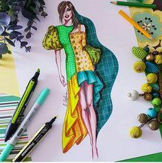 Dress Design Sketches, Fashion Design Sketchbook, Fashion Design Portfolio, Fashion Design Drawings, Fashion Sketches, Fashion Drawing Dresses, Fashion Illustration Dresses, Fashion Design Template, Diy Design