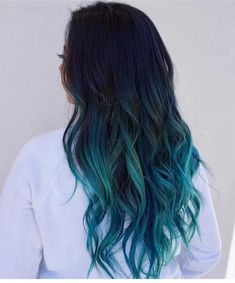 Blue Ombre Hair Color Trend In 2019 blue ombre hair color trend in trendy hairstyles and colors blue ombre hair;blue ombre hair color trend in trendy hairstyles and colors blue ombre hair; Navy Blue Hair, Hair Dye Colors, Ombre Hair Color, Hair Color Balayage, Cool Hair Color, Blue Ombre, Dark Ombre, Blue Hair Highlights, Hair Color Ideas