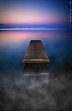 "Tourlida lake, Greece ""Simplicity"" by Andreas Politis Us Sailing, Beautiful Islands, Northern Lights, Greece, Sunrise, Earth, Colours, Explore, Water"
