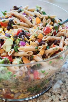 Spicy Mexican Pasta Salad for a Crowd http://motherrimmy.com/spicy-mexican-pasta-salad-crowd/