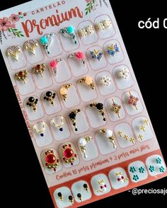 Gem Nails, Toe Nail Designs, Diamond Design, Gems, Nail Art, Crystals, Nail Jewels, Nice Nails, Nail Arts
