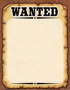 Western Wanted Poster Chart. :Wanted by the Lord: vbs pics