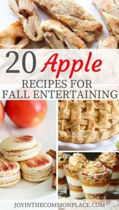 Do you love apple pie, apple crisp, and other apple recipes? Don't miss out on my recipe round-up of 20 Apple Recipes for Fall Entertaining Apple Dessert Recipes, Fall Desserts, Fruit Recipes, Apple Recipes, Fall Recipes, Holiday Recipes, Baking Recipes, Thanksgiving Recipes, Cookies
