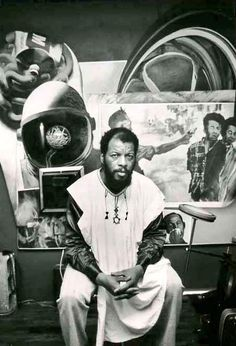 Ornette Coleman in his Prince Street loft by Charles Gatewood, 1973