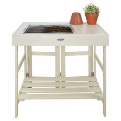 Avery Potting Table in White