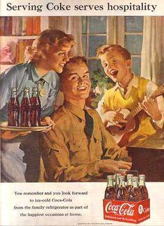 Coca-Cola Musicians 1951 - www.MadMenArt.com | Coca-Cola is more than a brand or a logo. It's a part of American culture - for some people attitude to life and lifestyle. Mad Men Art presents more than 200 vintage Coke ads. #CocaCola #Coke #Cola #VintageAds