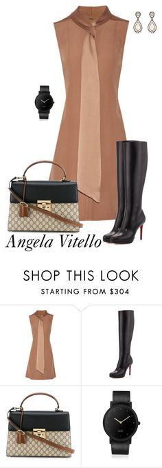 """Untitled #922"" by angela-vitello on Polyvore featuring ADAM, Christian Louboutin, Gucci, South Lane and Miguel Ases"