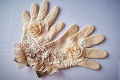 """Купить Перчатки валяные """" Персиковый рай"""" - перчатки, перчатки валяные, перчатки валяные женские"""