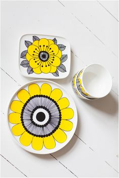 Marimekko. Low fire hand-painted inspiration.
