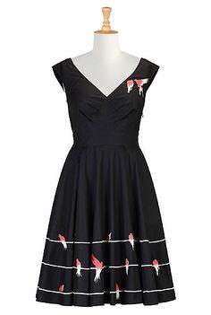 Plus Size Retro Dresses , Plus Size Black Dresses Shop women's designer fashion - Little Black Dress - Day-to-Evening Dresses - Day Dresses -   eShakti.com
