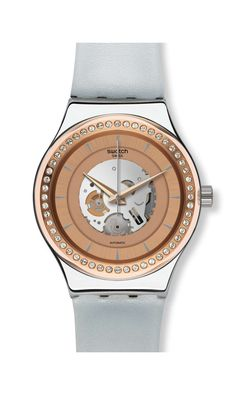 The groundbreaking Swatch mechanical movement has gone METAL. Introducing  IRONY  a collection of flashy 0ddfe8a73f