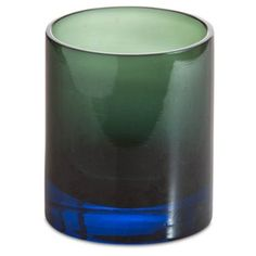 Check out this item at One Kings Lane! Ombre Old Fashioned Glass, Blue & Green