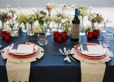 red, white and blue wedding, patriotic wedding, military wedding, Las Vegas Wedding Planner