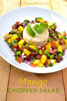 Mango Chopped Salad! Longing for summertime? This #salad will give you a summer fix without derailing your #BikiniReady plan #Vegan