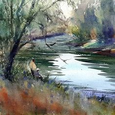 Keiko Tanabe, A quiet morning by the river creuse in the town of barrou france