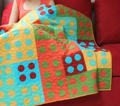 contemporary baby quilts | Modern Patchwork and Applique Baby Quilt, Kids Quilt, or Lap Quilt ...
