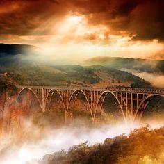 Durdevica Tara Bridge, Durmitor National Park, Montenegro  Tara by Dragan Todorović
