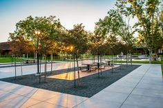 Foothill College | Los Altos California | Meyer + Silberberg Land Architects #court #bench #tables