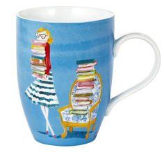 book stack bespectled mug
