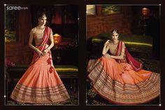 Orange Silk Lehenga Choli with Embroidery Work Orange Lehenga, Silk Lehenga, Saree, Jj Collection, Lehenga Collection, Wedding Designs, Embroidery, Womens Fashion, Dil Se