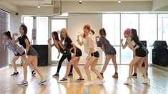 9MUSES A - Lip 2 Lip - mirrored dance practice video - 나인뮤지스 A 입술에 입술 안무...